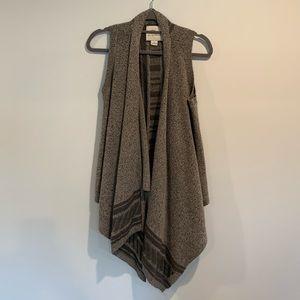 Grey Open Sweater